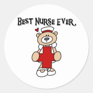 Las mejores camisetas y regalos de la enfermera etiqueta redonda