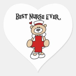 Las mejores camisetas y regalos de la enfermera calcomania corazon personalizadas