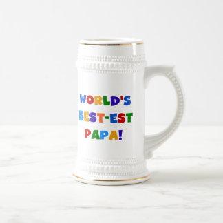 Las mejores camisetas y regalos de la papá del mun tazas de café