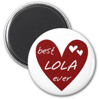 Las mejores camisetas y regalos de Lola del corazó Imán Para Frigorífico