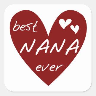 Las mejores camisetas y regalos de Nana del corazó Colcomanias Cuadradases