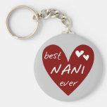 Las mejores camisetas y regalos de Nani del corazó Llaveros