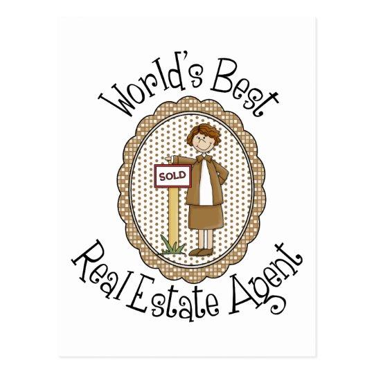 Las mejores camisetas y regalos del agente tarjeta postal
