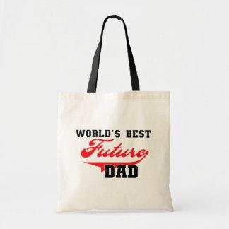 Las mejores camisetas y regalos futuros del papá d bolsas de mano