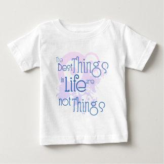 Las mejores cosas de la vida no son cosas playera