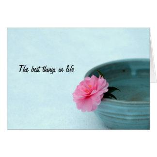 Las mejores cosas del zen en tarjeta de la vida