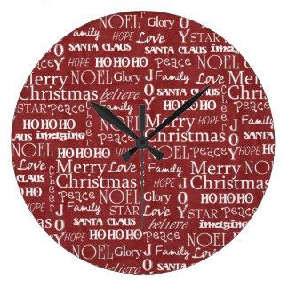 Las mejores cosas sobre navidad duran todo el año  reloj redondo grande