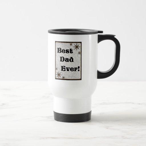 Las mejores estrellas del papá nunca taza de café