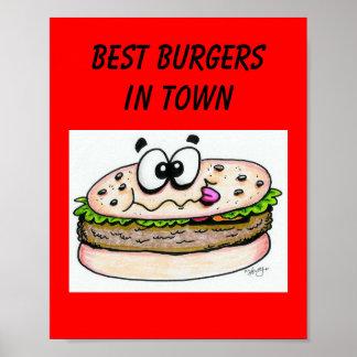 Las mejores hamburguesas en poster de la ciudad