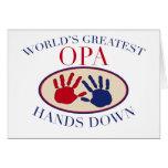 Las mejores manos de Opa abajo Felicitaciones