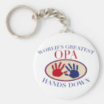 Las mejores manos de Opa abajo Llaveros
