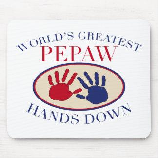 Las mejores manos de Pepaw abajo Alfombrillas De Raton