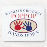 Las mejores manos de PopPop abajo Tapete De Raton