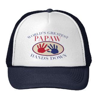Las mejores manos del Papaw abajo Gorras De Camionero