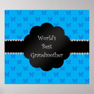 Las mejores mariposas del azul de la abuela del mu póster