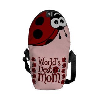 Las mejores mariquitas de la mamá del mundo bolsas messenger