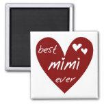 Las mejores nunca camisetas Mimi y regalos del cor Imán De Frigorifico