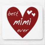 Las mejores nunca camisetas Mimi y regalos del cor Alfombrillas De Raton