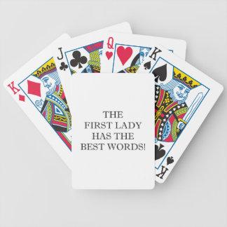 Las mejores palabras baraja cartas de poker