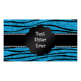 Las mejores rayas siempre azules de la cebra del b tarjeta de visita