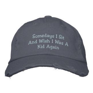 Las memorias de la niñez bordaron el gorra gorras bordadas