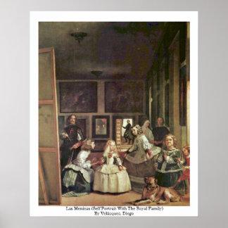 Las Meninas (autorretrato con la familia real) Póster