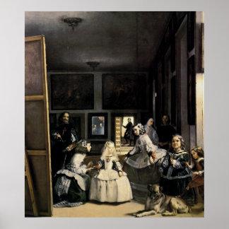 Las Meninas by Velasquez Poster