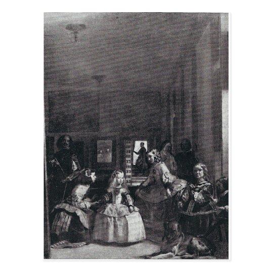 """""""Las Meninas."""" by Velazquez Postcard"""