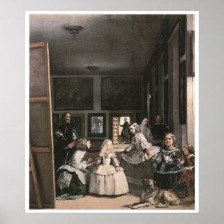 Las Meninas, c.1656 Diego Velasquez Poster