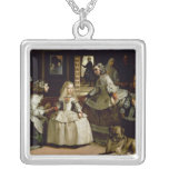 Las Meninas detail of the lower half depicting Personalized Necklace