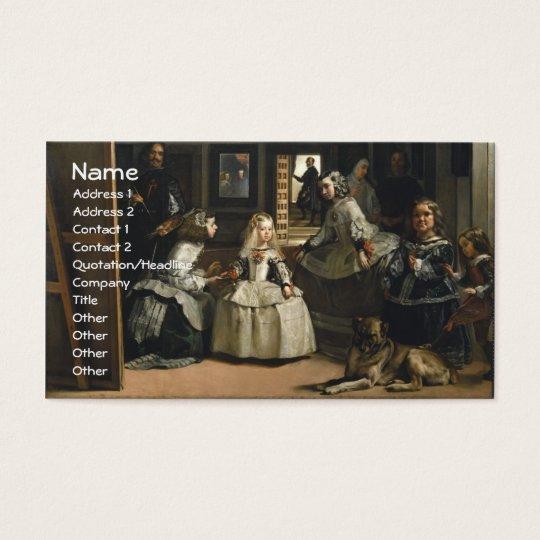 Las Meninas Diego Velázquez Fine Art Business Card