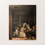 """Las Meninas Jigsaw Puzzle<br><div class=""""desc"""">Las Meninas by Diego Velazquez. (1656) Museo del Prado,  Madrid</div>"""