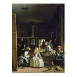 Las Meninas o la familia de Philip IV, c.1656 2 Tarjeta Postal