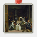 Las Meninas o la familia de Philip IV, c.1656 Adorno Navideño Cuadrado De Metal