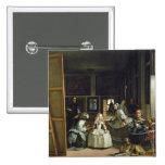 Las Meninas o la familia de Philip IV, c.1656 Pin Cuadrada 5 Cm