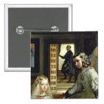 Las Meninas or The Family of Philip IV, c.1656 2 2 Inch Square Button