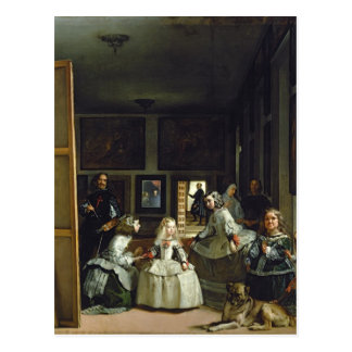 Las Meninas or The Family of Philip IV, c.1656 2 Postcard