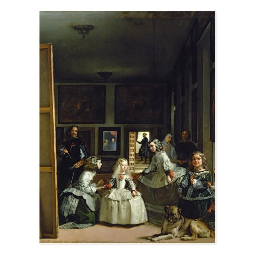 Las Meninas or The Family of Philip IV, c.1656 2 Postcard