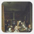 Las Meninas or The Family of Philip IV, c.1656 2 Square Sticker