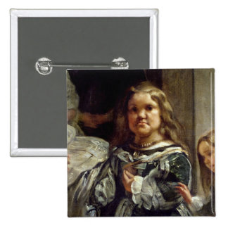 Las Meninas or The Family of Philip IV, c.1656 2 Inch Square Button