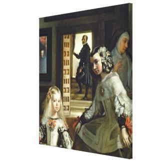 Las Meninas or The Family of Philip IV, c.1656 Canvas Print