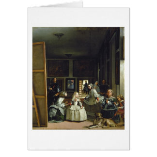 Las Meninas or The Family of Philip IV, c.1656 Greeting Cards