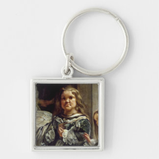 Las Meninas or The Family of Philip IV, c.1656 Silver-Colored Square Keychain
