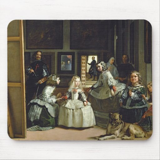 Las Meninas or The Family of Philip IV, c.1656 Mousepads