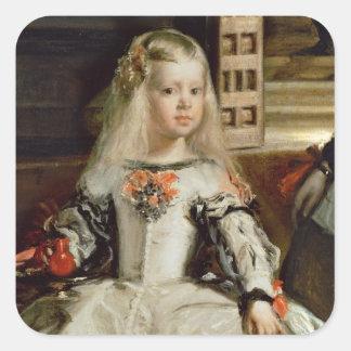 Las Meninas or The Family of Philip IV, c.1656 Square Stickers