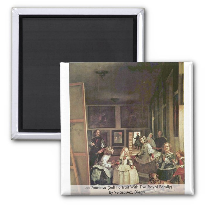 Las Meninas (Self Portrait With The Royal Family) 2 Inch Square Magnet