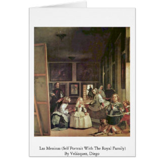 Las Meninas Self Portrait With The Royal Family Greeting Card
