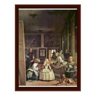 Las Meninas (Self Portrait With The Royal Family) Postcard