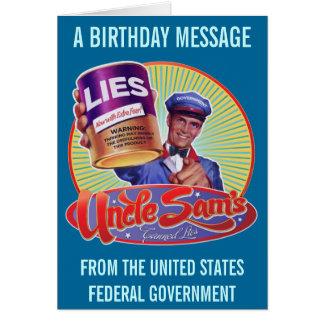 Las mentiras conservadas del tío Sam Felicitacion
