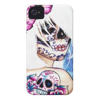 Las mentiras tatuaron el día del retrato muerto de iPhone 4 Case-Mate protector